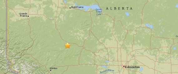 ALBERTA EARTHQUAKE FOX CREEK