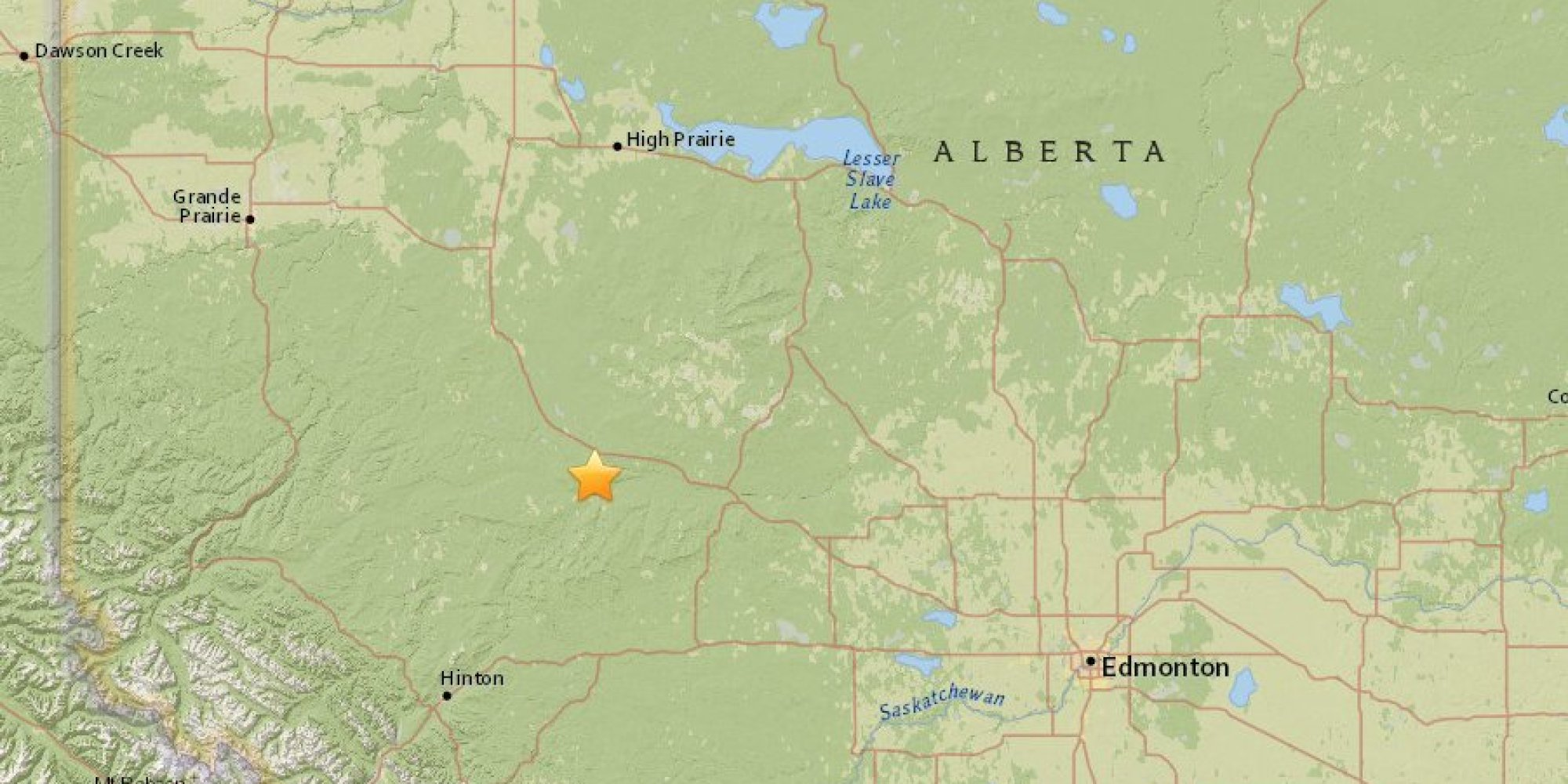 Fox Creek (AB) Canada  city photo : Alberta Earthquake Measuring 4.4 Magnitude Recorded Near Fox Creek