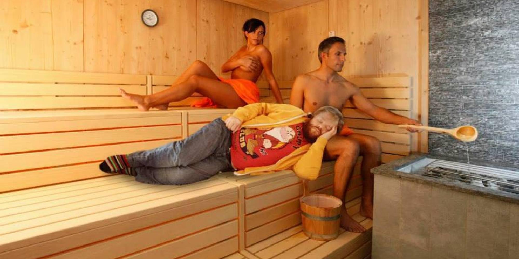 Фото с тетей в бане