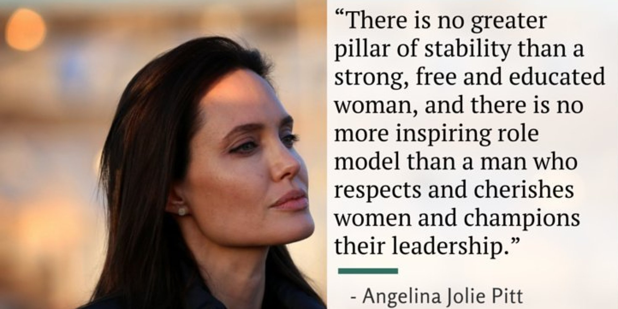 Human rights activist and a UN Goodwill Ambassador, Angelina ...