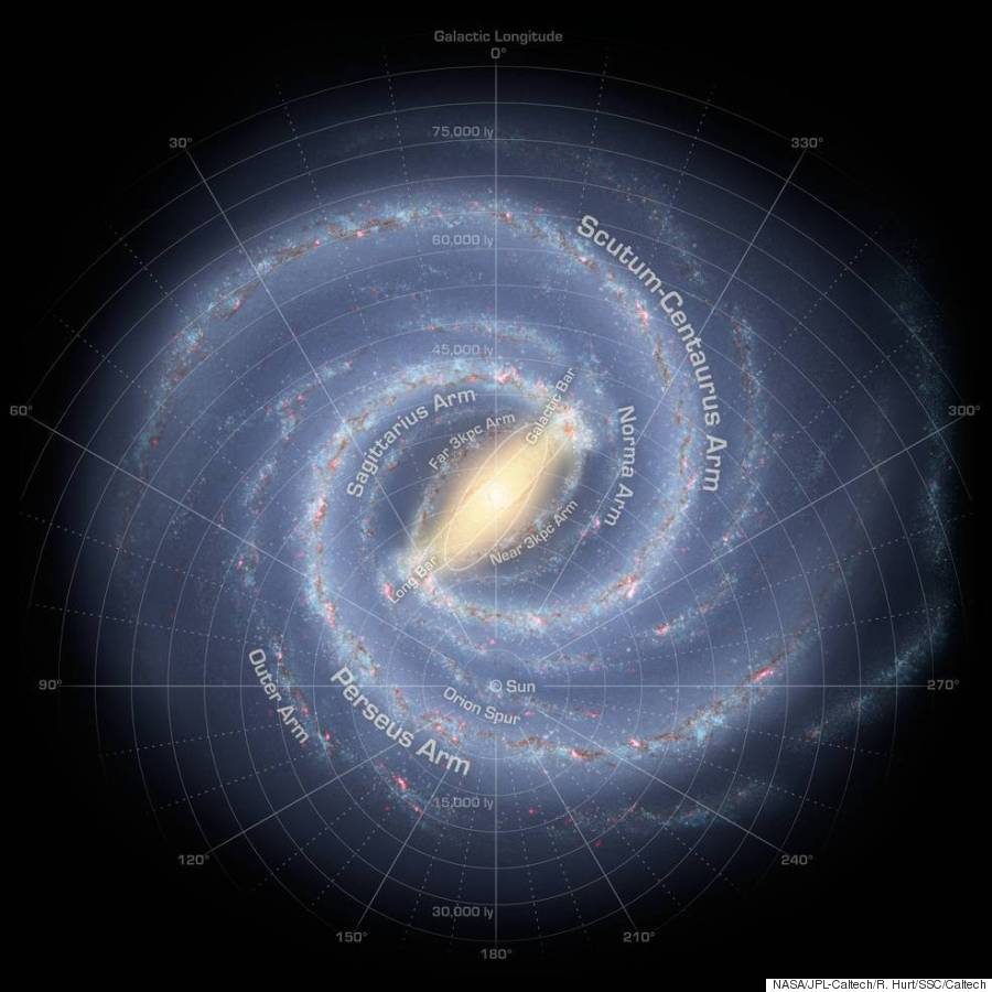 Milky Way Galaxy Map New Milky Way Galaxy Map Is The Most Accurate Ever Created | HuffPost Milky Way Galaxy Map