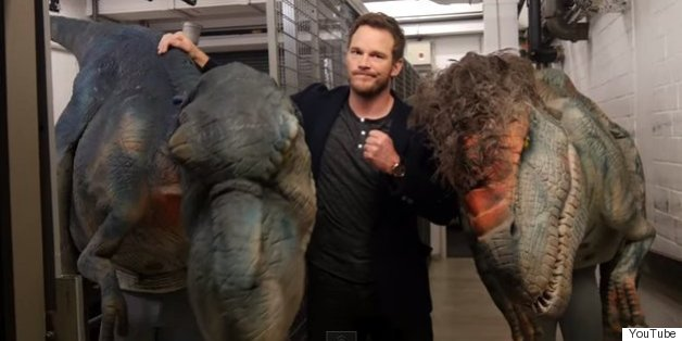 Chris Pratt Got Pranked With Lifelike Raptor Puppet