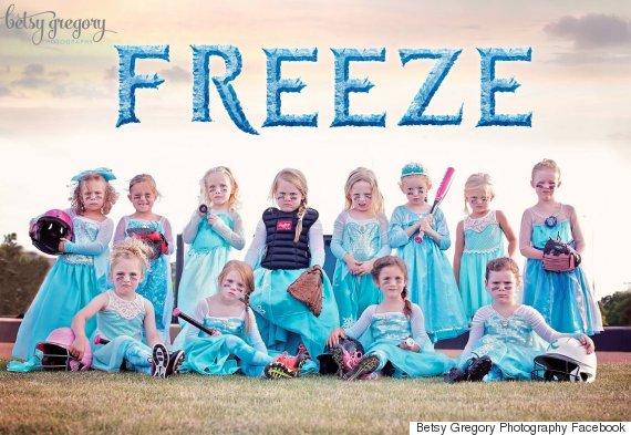 frozen girls team