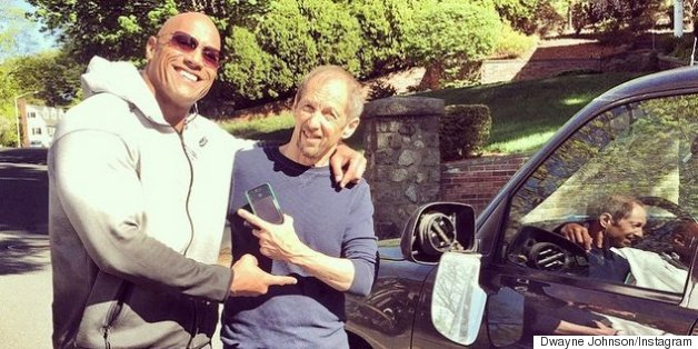 The Rock Hit Someone's Car And Now They're Buddies