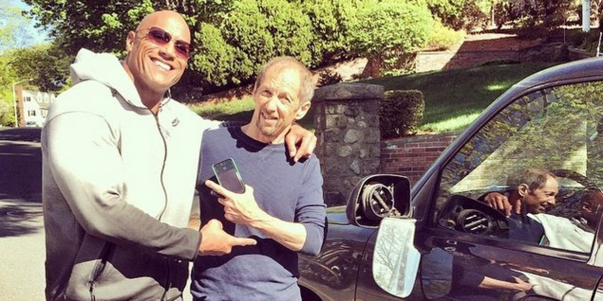 The Rock Hit Someone's Car And