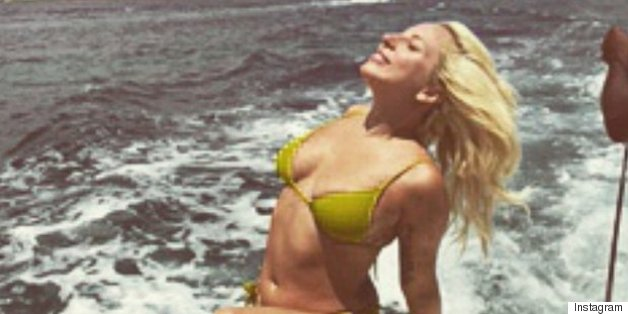 Lady Gaga Tans In A Bikini On A Boat In The Bahamas