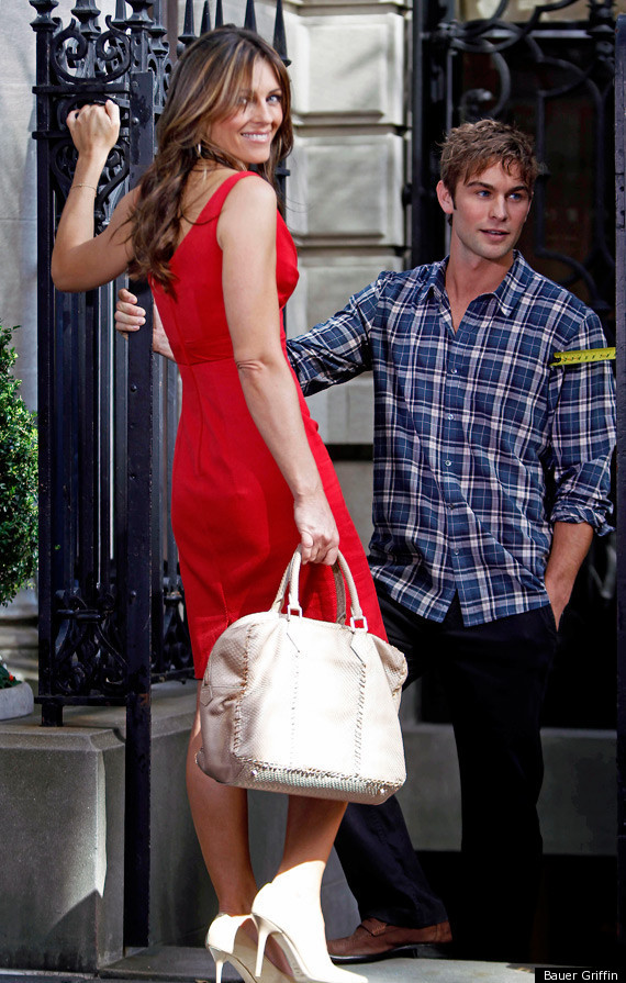 Elizabeth Hurley Gets Cozy With Co Star Chace Crawford