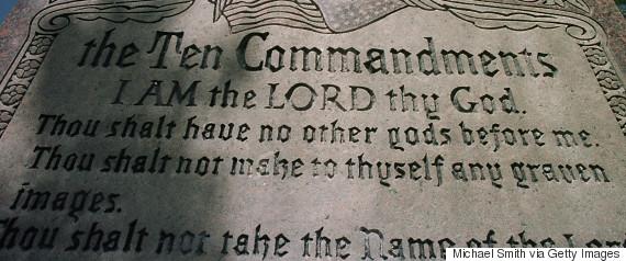 ten commandments display
