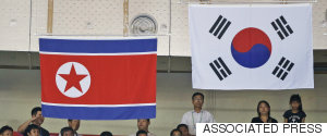NORTH KOREA SOUTH KOREA FLAG