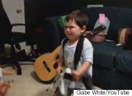 Headbanging Tot Rocks Out To Rage Against The Machine, Knows That Music Iz Lyfe