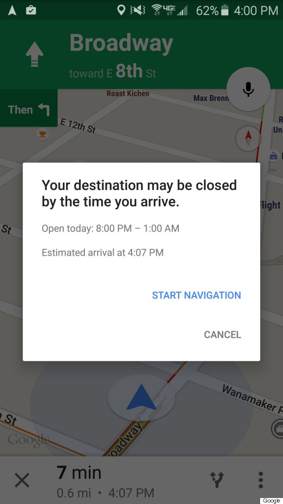google maps instructions iphone