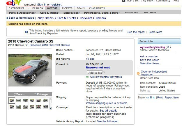 Man's eBay Sale Compares Car And Ex-Wife (PICTURE) | HuffPost