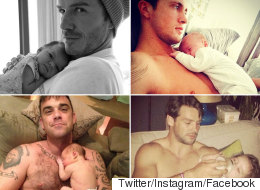 13 Snaps Of Hot Celeb Dads And Their Babies That Will Give You All The Feels