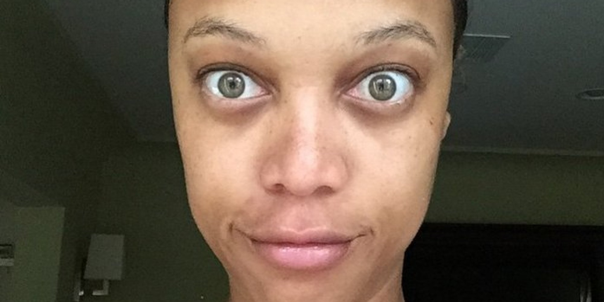 Celebrities Without Makeup: Tyra Banks Protests Retouched # ...