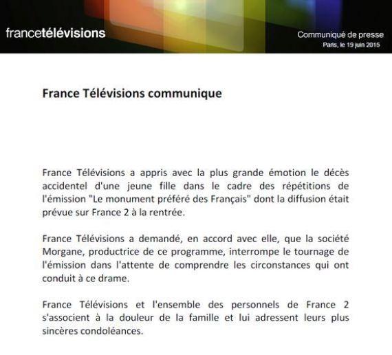 france televisions communique lilou morte