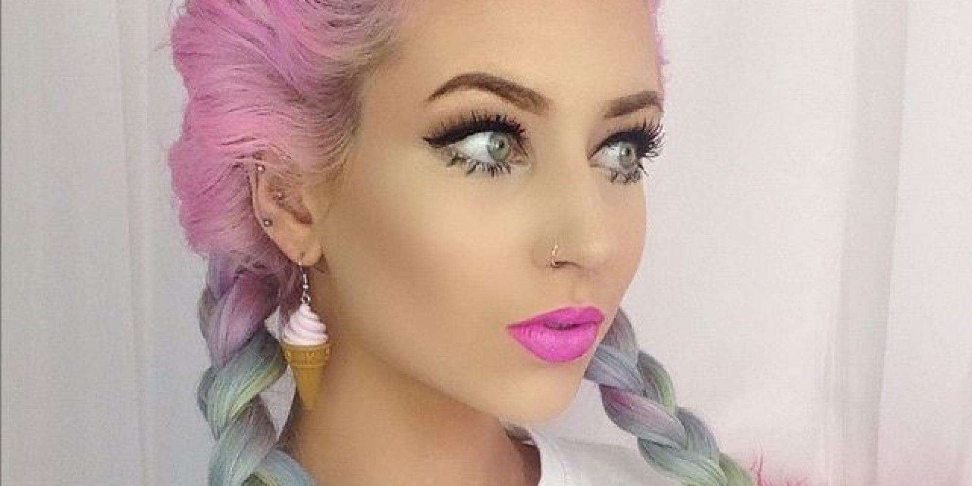 15 photos that prove pastel rainbow hair is the trend of the moment