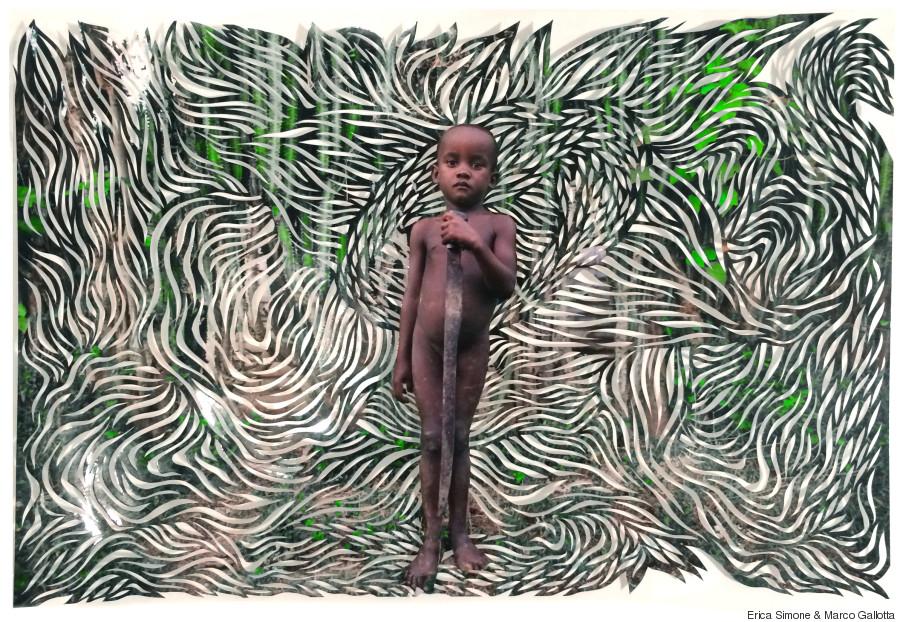 green cutout