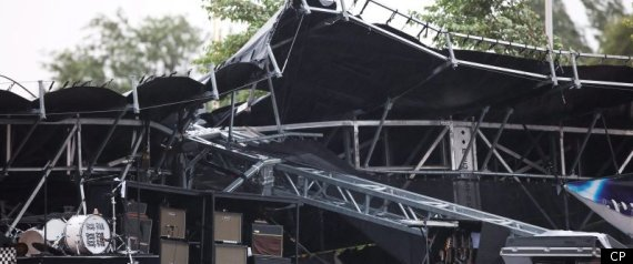CHEAP TRICK OTTAWA CONCERT STAGE COLLAPSE BLUESFES