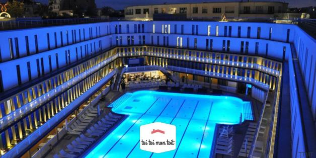 C 39 est l 39 t le top 5 des caf s et bars rooftop de paris for Rooftop piscine molitor
