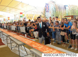 Italy Sets Record For World's Longest Pizza And It Looks Gouda!