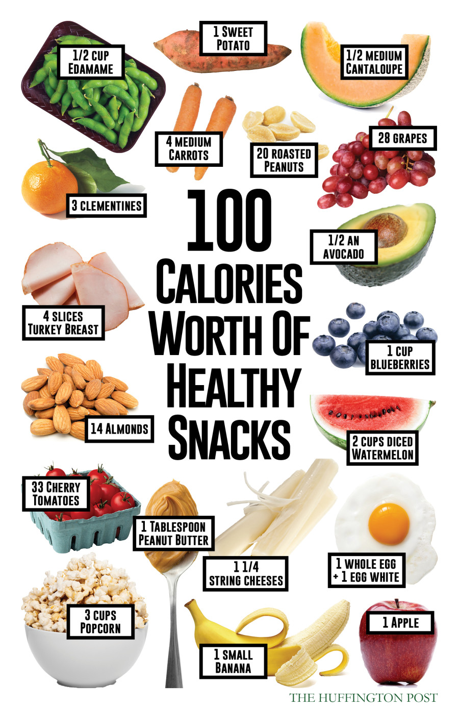 here 39 s what 100 calories worth of healthy snacks will get