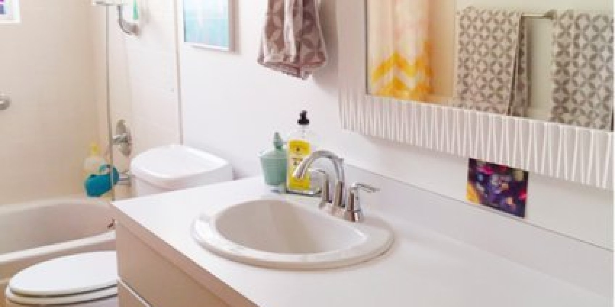 Bathroom Makeovers On A Budget South Africa a budget bathroom makeover: from pink toilets to pops of color