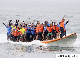 66 People Surf Their Way To Two World Records
