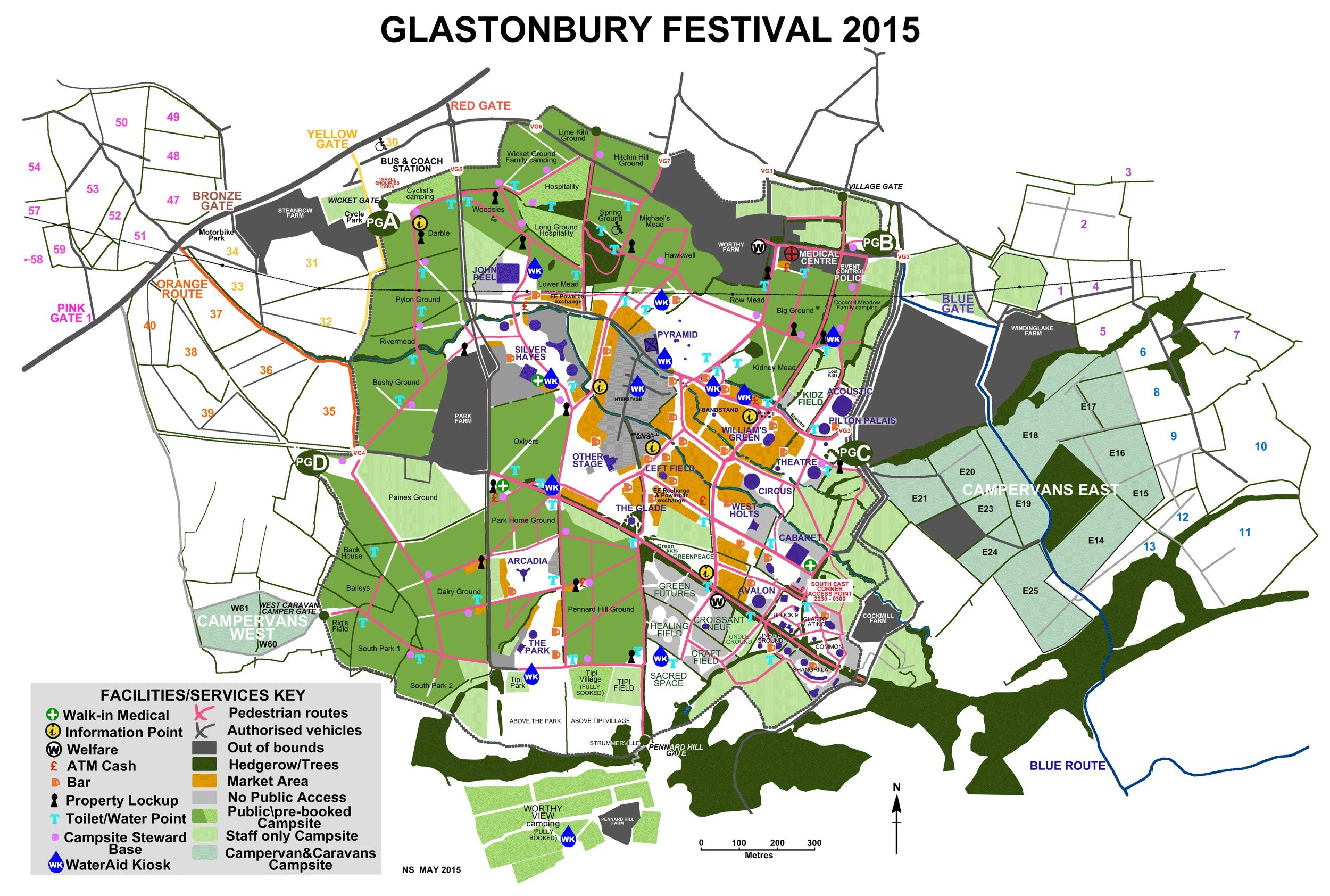 glastonbury map