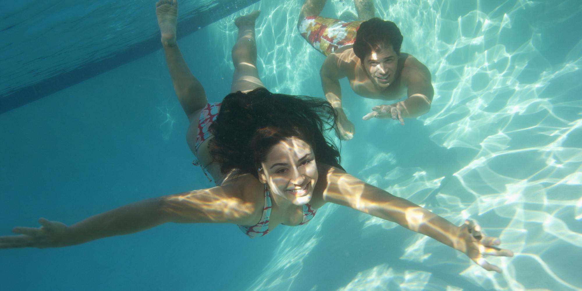 Es liegt nicht am Chlor, dass Ihre Augen im Schwimmbad rot