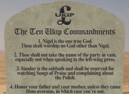 The Ten Ukip Commandments