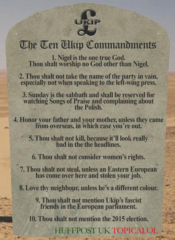 ten ukip commandments huffpost uk