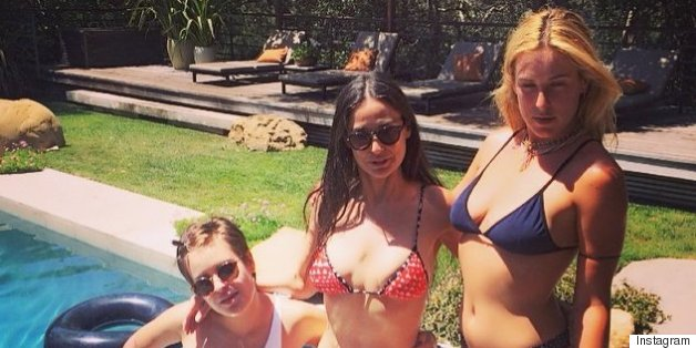 Demi Moore And Daughters Pose Poolside In Their Bikinis