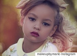 Kim Kardashian's Makeup Artist Gives A Four-Year-Old A Makeover, Irritates The World