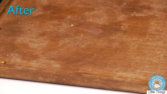 scratched wood. How To Remove Scratches From Wooden Furniture Using Nuts