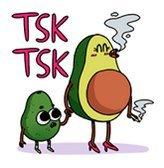 smoking avocado