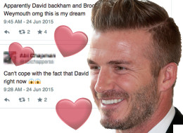 Twitter Reacts To David Beckham In Weymouth