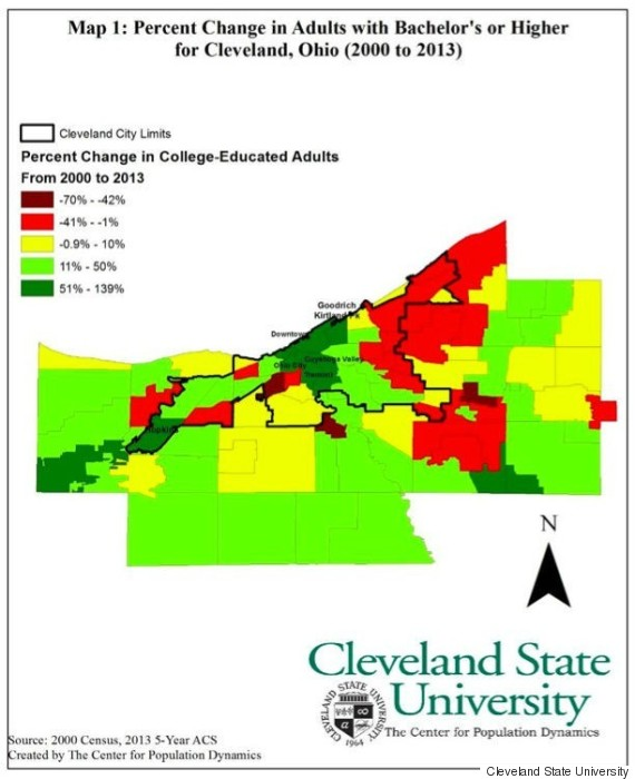How Millennials Are Reviving Cleveland | HuffPost on cleveland city map, ohio msa map, cleveland topographic map, cleveland tx, cleveland land use map, cleveland racial map, king north carolina map, akron ward map, cleveland community map, cleveland georgia map, cleveland ohio ward map, cleveland historical map, cleveland county sheriff logo, cleveland school map, cleveland akron map, cleveland market map, cleveland crime map, missouri research park map, cleveland political map, cleveland state map,