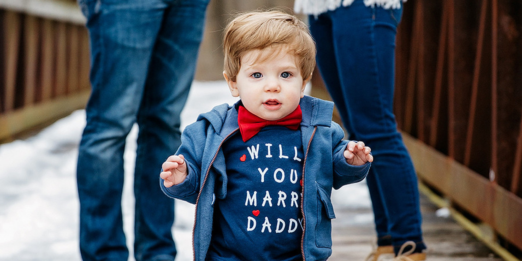 This Precious 1 Year Old Baby Helped His Dad Propose To His Mom Huffpost