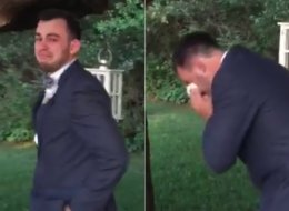 Emotional Groom Loses It When He Sees His Bride Coming Down The Aisle