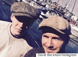 David Beckham Gushes Over Father-Son Bonding Time, Brooklyn Is Less Emosh