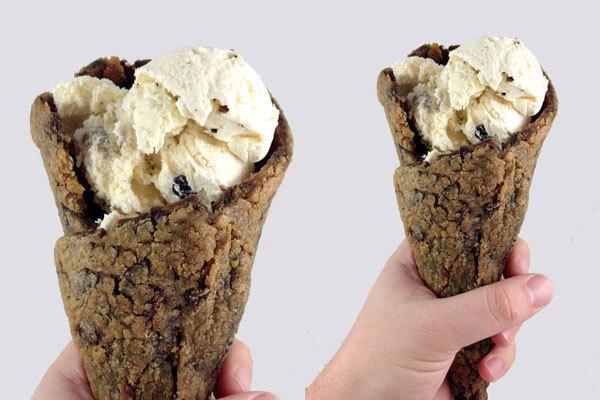 ice cream cookie cone