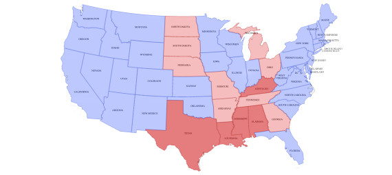 Le mariage homosexuel aux Etats-Unis, tat des lieux