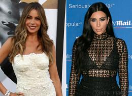 Sofía Vergara y Kim Kardashian, bellas con encaje y transparencias