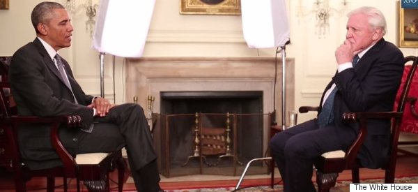 This Is What Happened When Obama Interviewed David Attenborough
