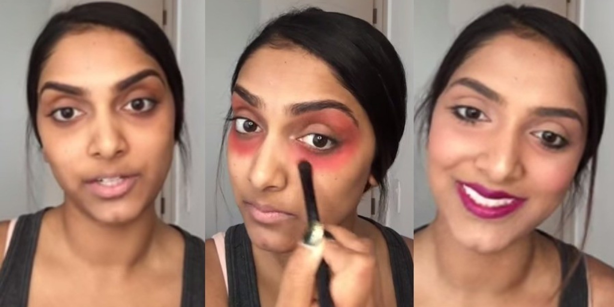 ... how to cover dark circles under eyes with makeup use a red lipstick as concealer huffpost ...