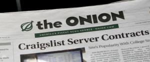 THE ONION NEWSPAPER