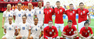 ENGLAND WOMENS MENS FOOTBALL TEAMS