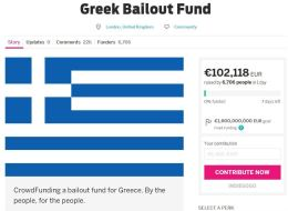 Someone Is Trying To Bailout Greece With An Online Crowdfunding Campaign