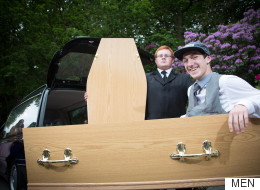 Dead Cool. Teen Arrives At His Prom In A Coffin