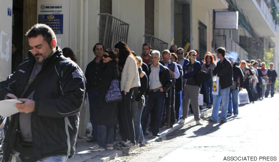 greece unemployed